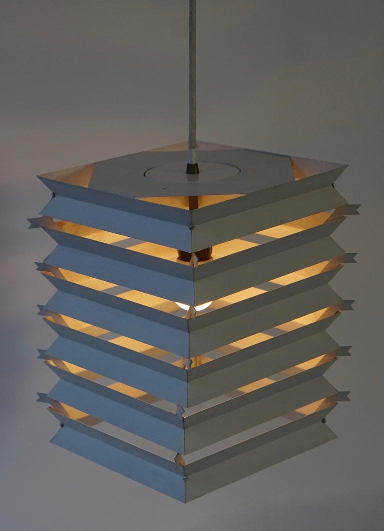 Rare Danish White Metal Ceiling Pendant, Mid-1960s For Sale 7