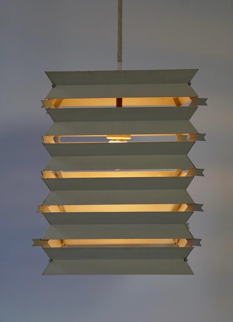 Rare Danish White Metal Ceiling Pendant, Mid-1960s For Sale 8