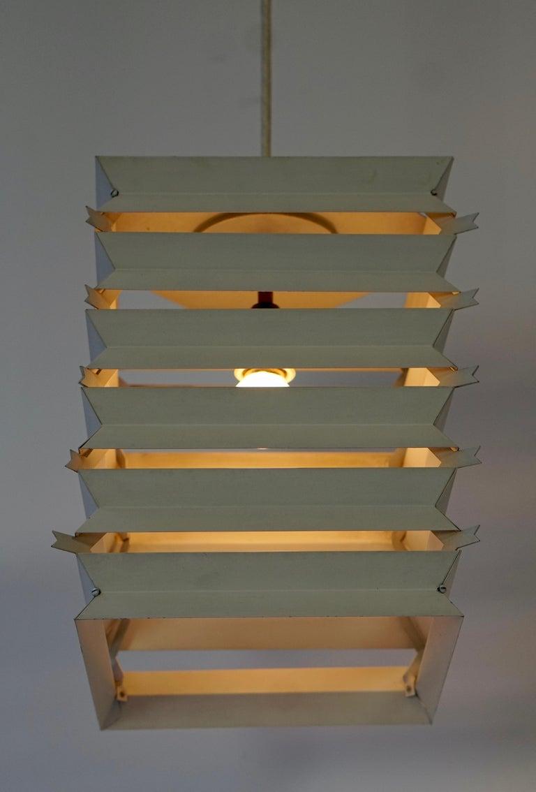 Rare Danish White Metal Ceiling Pendant, Mid-1960s For Sale 2