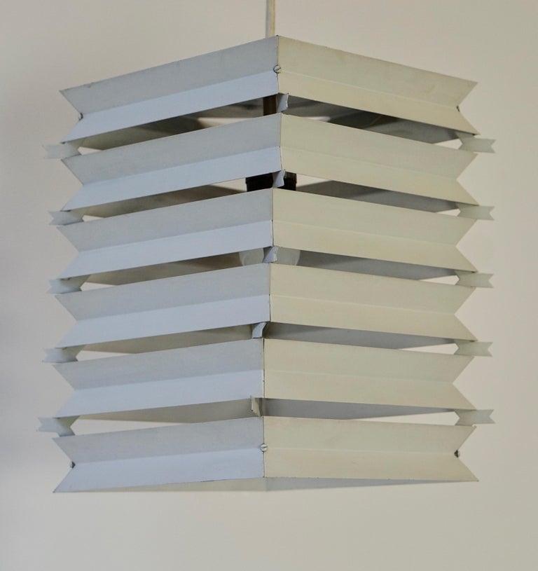 Rare Danish White Metal Ceiling Pendant, Mid-1960s For Sale 4
