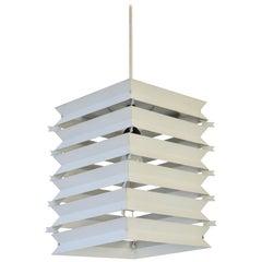 Rare Danish White Metal Ceiling Pendant, Mid-1960s