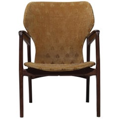 Rare Danish Wingback Armchair Attributed to Aksel Bender Madsen, 1960