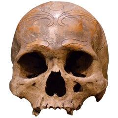 Rare Dayak Headhunter Human Trophee Skull 'Ndaokus', Borneo, Indonesia