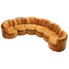 Rare De Sede DS800 Sectional Sofa in Cognac Leather