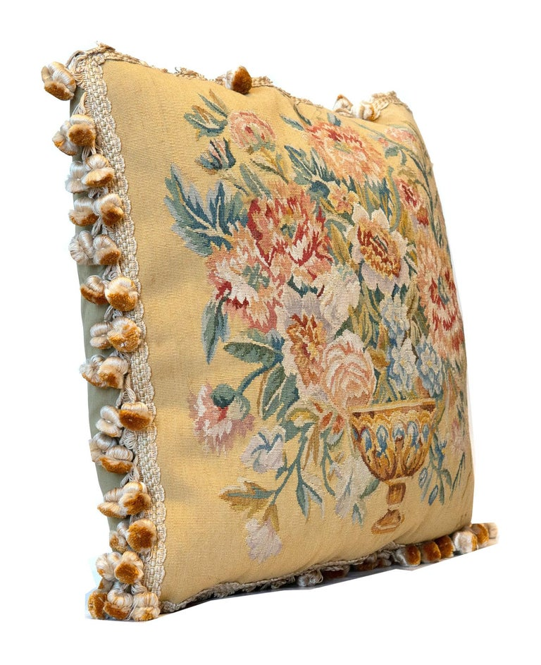 Rare vintage pillowcase zipper soft cushion handmade pillow cover, view one of the most comprehensive collections of the decorative pillow, handmade traditional silk and wool Aubusson that weaved by hands. We offering Aubusson and Needlepoint