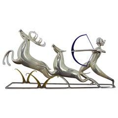 Rare Design Nand Made Glass Sculpture by Jarolsav Brychta, 1950s
