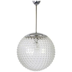 Rare Designer Glass Pendant Lamp by Rolf Krüger for Staff, Germany, 1970s