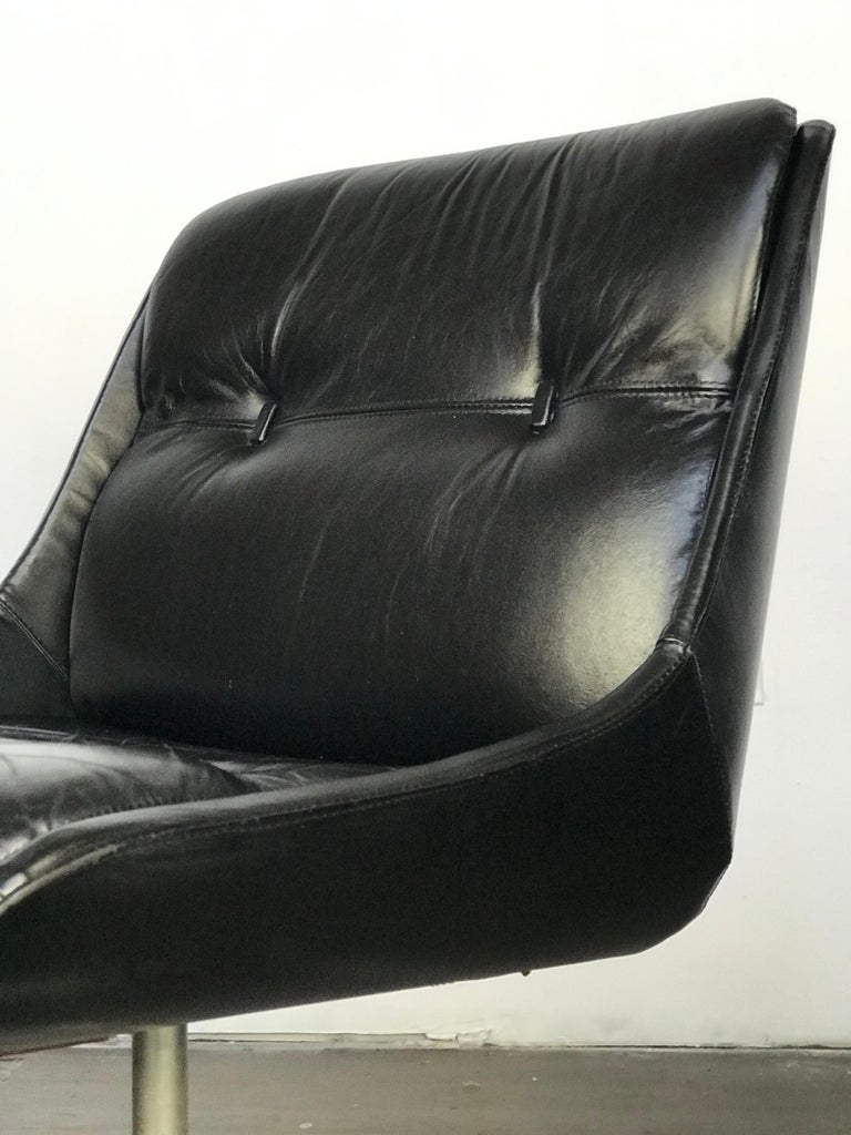 Mid-Century Modern Mid Century Modern Desk Chair in Leather by Jean Gillon  For Sale