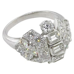 Rare Diamond Cluster Ring by Collingwood Jewelers of Princess Di Fame