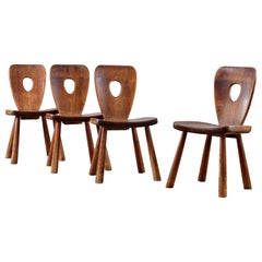 Rare Dining Chairs by Bo Fjaestad, Sweden, 1930s
