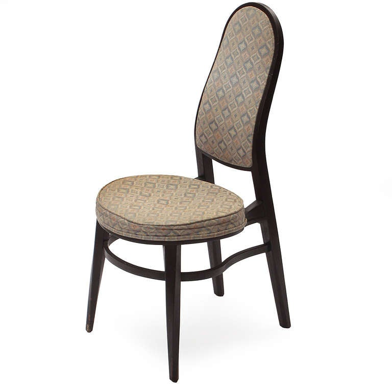 Rare Dining Chairs by Edward Wormley In Good Condition For Sale In Sagaponack, NY