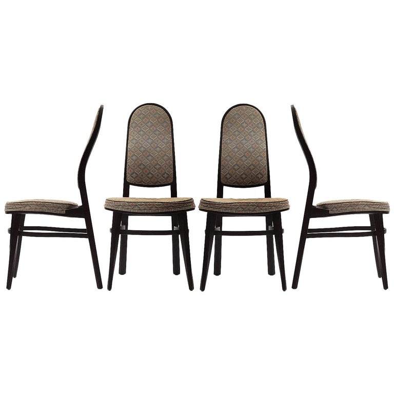 Rare Dining Chairs by Edward Wormley For Sale