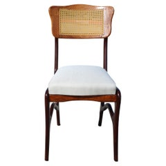 Rare Dining Chairs Set of 8 by Giuseppe Scapinelli, Brazilian Midcentury, 60's