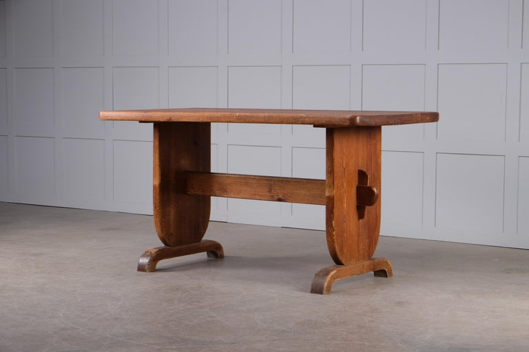 Dining table by Bo Fjaestad, Sweden, 1930s. Original condition.