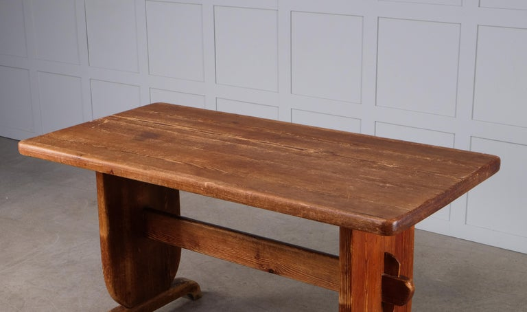 Swedish Rare Dining Table by Bo Fjaestad, Sweden, 1930s For Sale