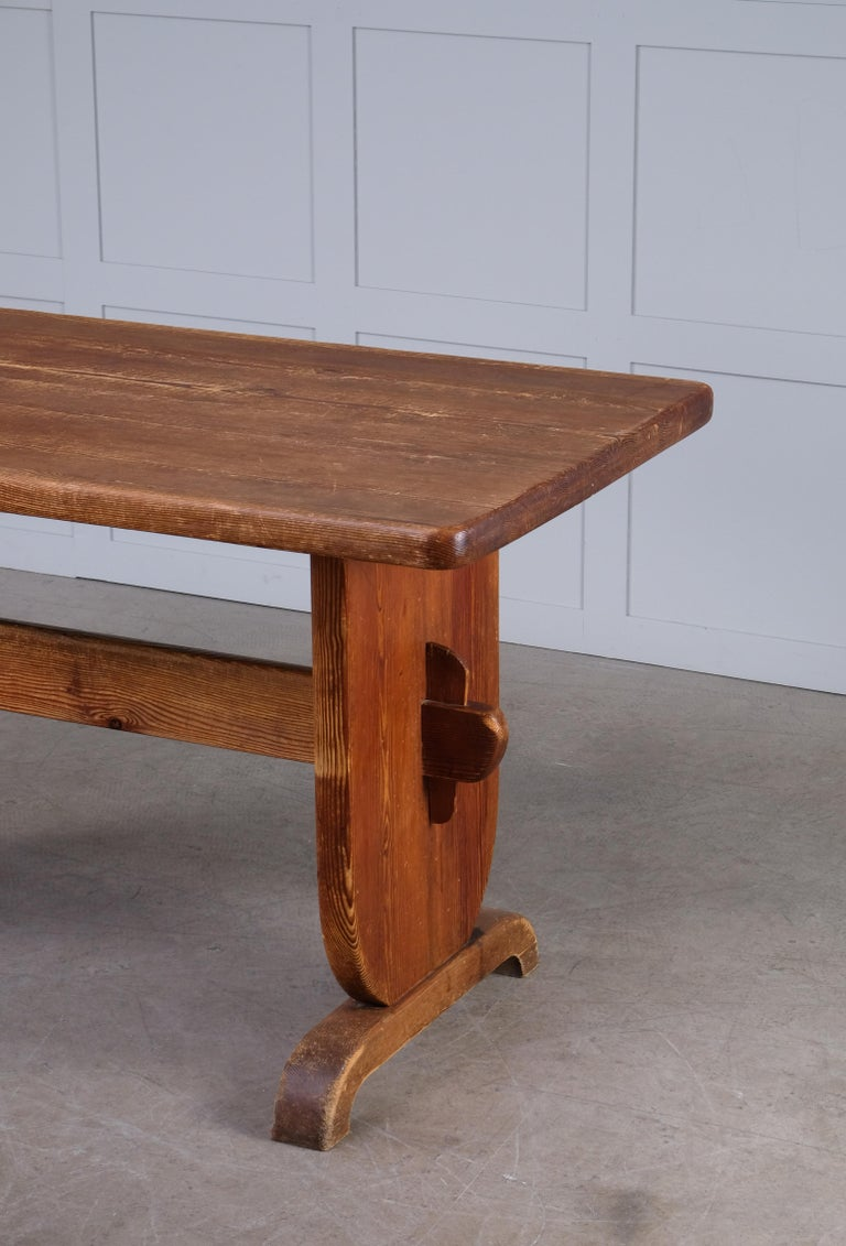 Rare Dining Table by Bo Fjaestad, Sweden, 1930s In Good Condition For Sale In Stockholm, SE