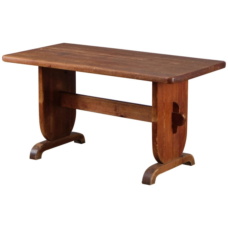 Rare Dining Table by Bo Fjaestad, Sweden, 1930s For Sale