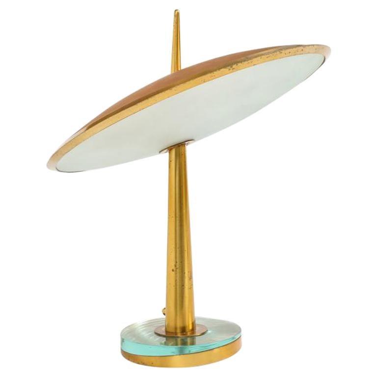 "Rare ""Disco Volante"" Table Lamp by Max Ingrand for Fontana Arte"