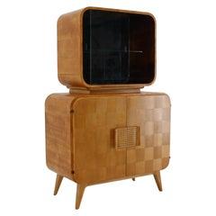 Rare Display Case by Jindrich Halabala for Up Zavody, 1940s