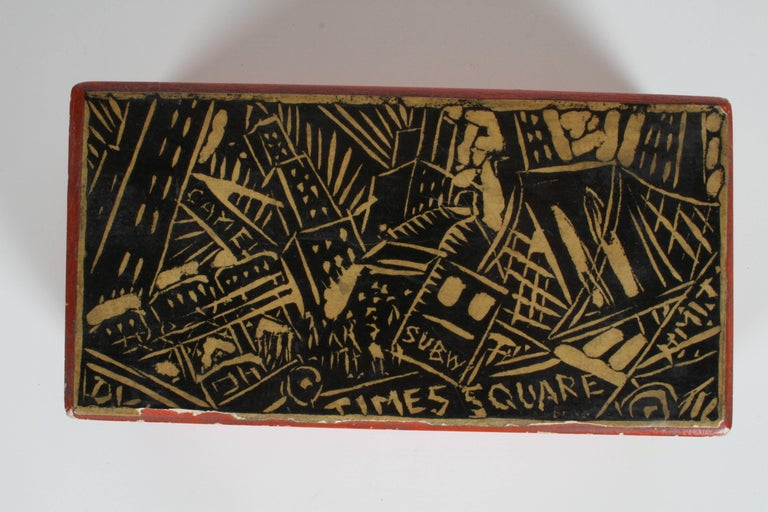 Rare Donald Deskey New York City Times Square Box For Sale 8
