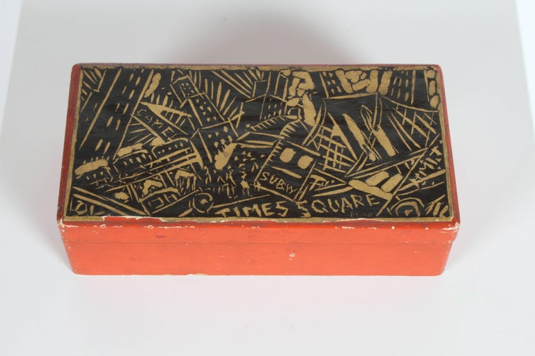 Early 20th Century Rare Donald Deskey New York City Times Square Box For Sale