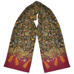 "Rare Donny Brook ""Autumn Floral with Burgundy"" Scarf"