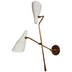 Rare Double Shade Wall Light by Lumen