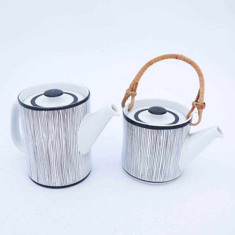 Swedish Rare Double Teapot, Stig Lindberg Gustavsbergs Studio, Faience For Sale