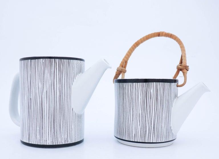 Glazed Rare Double Teapot, Stig Lindberg Gustavsbergs Studio, Faience For Sale