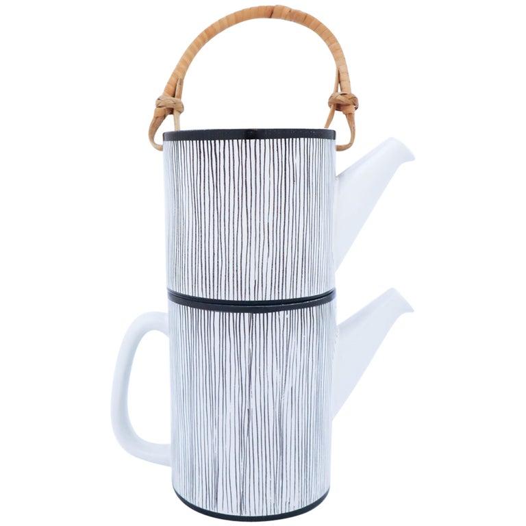 Rare Double Teapot, Stig Lindberg Gustavsbergs Studio, Faience For Sale