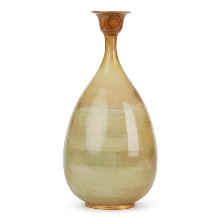 Rare Doulton Burslem Luscian Ware Hand Painted Exhibition Vase, circa 1893 For Sale 3