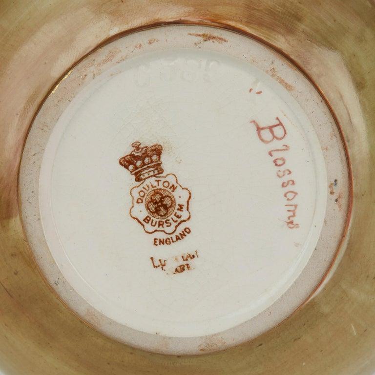 Rare Doulton Burslem Luscian Ware Hand Painted Exhibition Vase, circa 1893 For Sale 1