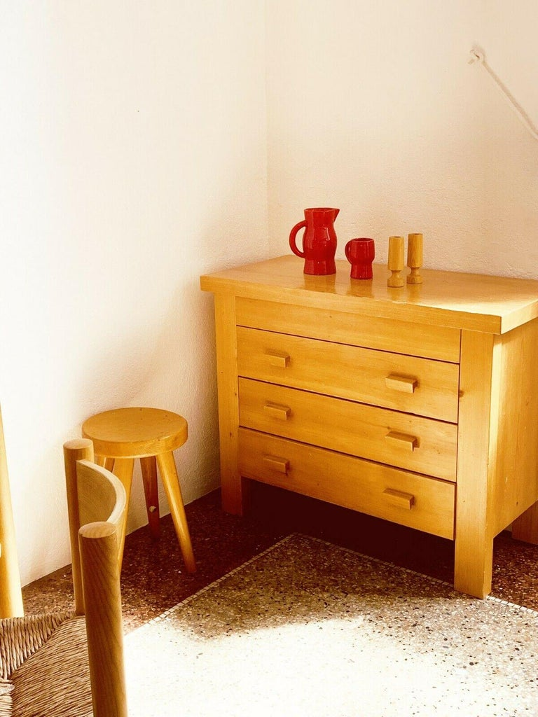 Rare Dresser 4 Drawers Charlotte Perriand/ René Martin Les Allues Meribel 1971 In Fair Condition For Sale In Paris, FR