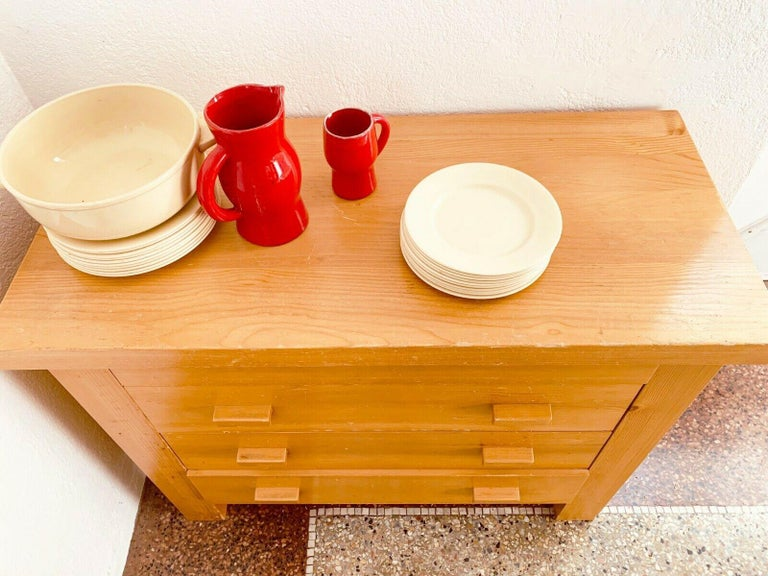 Rare Dresser 4 Drawers Charlotte Perriand/ René Martin Les Allues Meribel 1971 For Sale 1