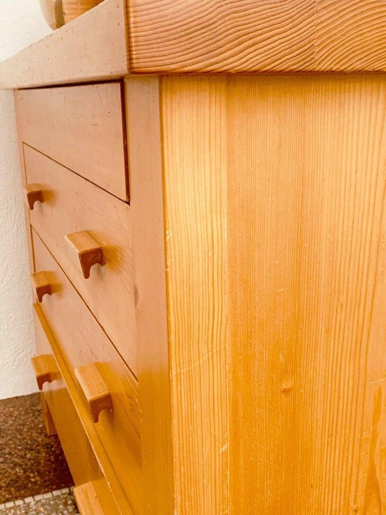 Rare Dresser 4 Drawers Charlotte Perriand/ René Martin Les Allues Meribel 1971 For Sale 2
