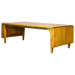 Rare Drop-Leaf Coffee Table or Bench by Milo Baughman for Murray Furniture 1953