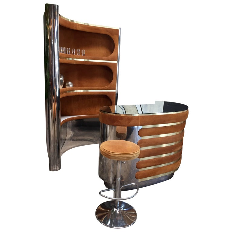Rare Dry Bar and Storage of Willy Rizzo, Italy, 1970s For Sale