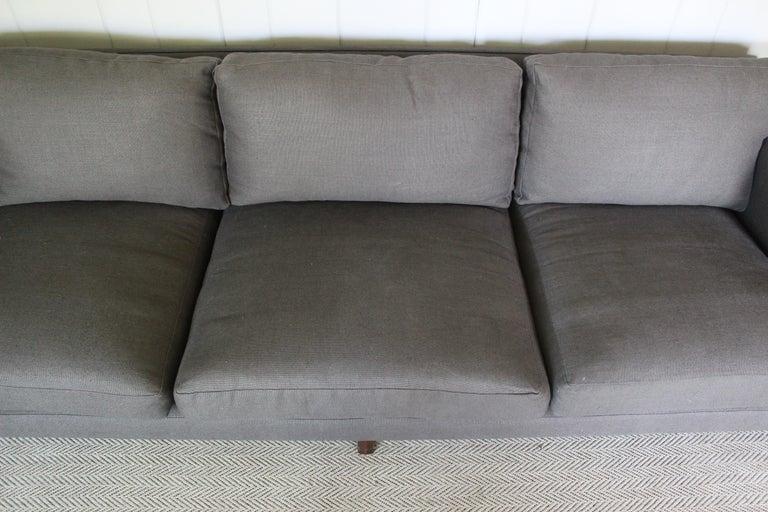 Linen Rare Dunbar Sofa by Edward Wormley For Sale