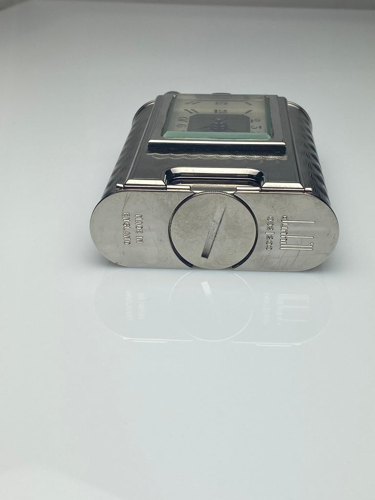 Modern Rare Dunhill Charleston Lighter with Clock For Sale