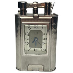 Rare Dunhill Charleston Lighter with Clock