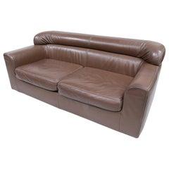 Rare Durlet Buffalo Neck-Leather Sofa, 1970s