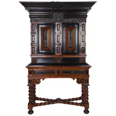 "Rare Dutch 17th Century Cabinet-on-Stand, A So-Called ""Kraamkamerkast"""
