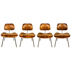 Rare Eames DCM Dining Chairs in Rosewood for Herman Miller