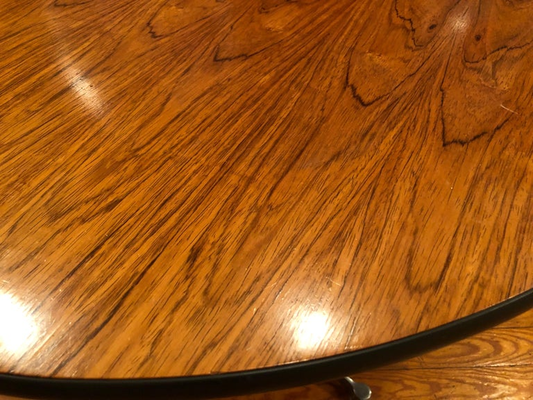 Rare Eames Rosewood Dining table for Herman Miller In Good Condition For Sale In Brooklyn, NY