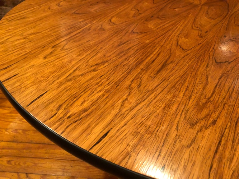 20th Century Rare Eames Rosewood Dining table for Herman Miller For Sale