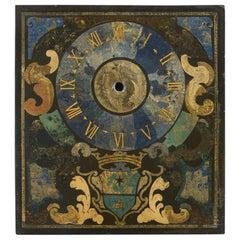 Rare Early 18th Century Italian Scagliola Clock-Face Panel