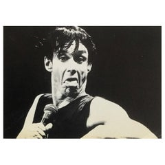 Rare early 1980s Iggy Pop Announcement