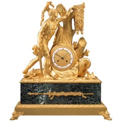 "Rare Early 19th Century Empire Mantel Clock ""Jason with the Golden Fleece"""