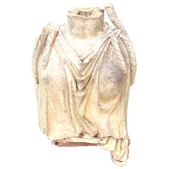 "Rare Early 19th Century English Coade Stone Statue Torso of a ""Soane"" Caryatid"