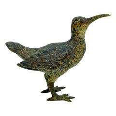 Rare Early 20th Century Austrian Vienna Bronze Bird Figurine, Vintage